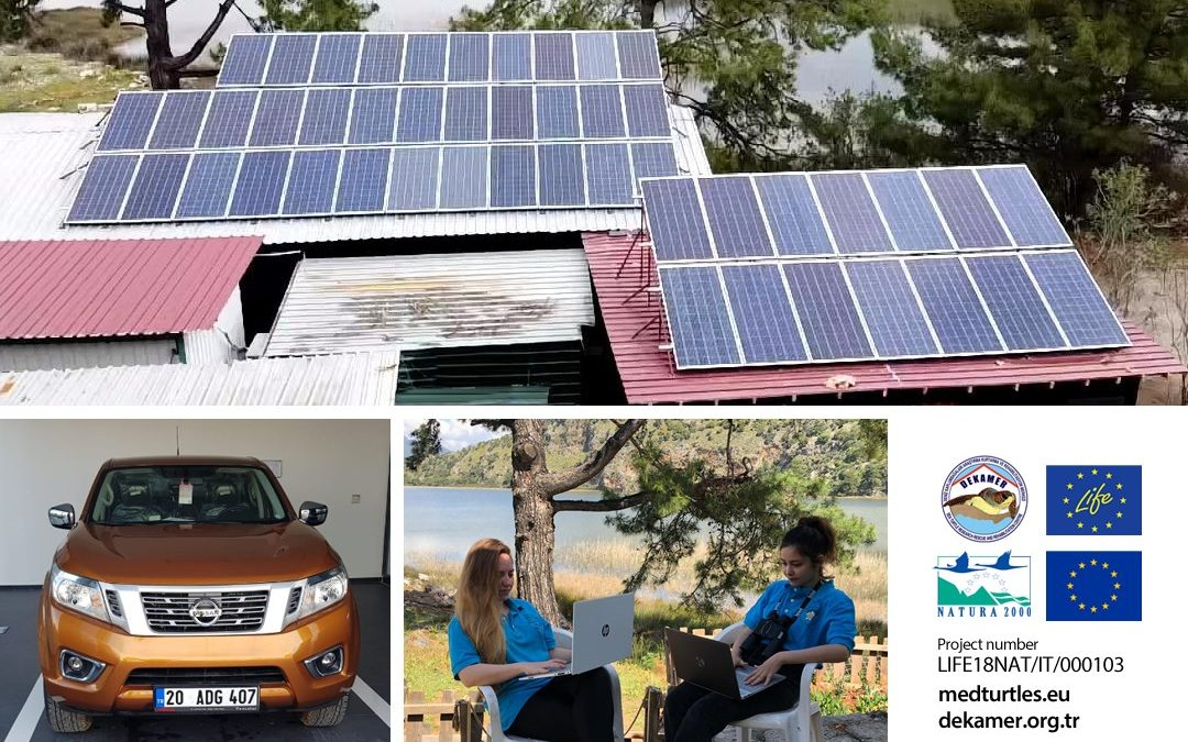 Vehicle and laptops were purchased and a solar power system was established
