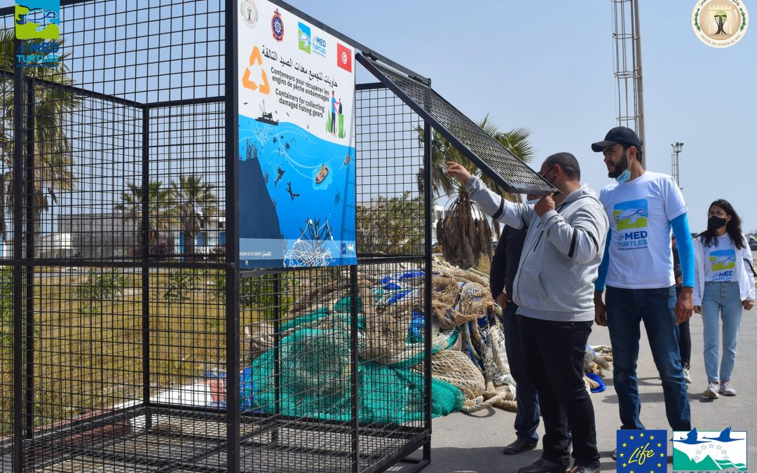 Our partner in Tunisia also placed collection bins for ghost gear at Chebba port!
