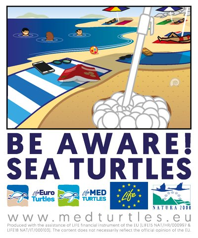 BE AWARE - SEA TURTLES