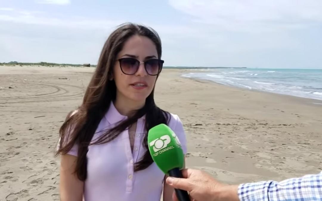 Media coverage of the newly recorded loggerhead nesting area in Albania.